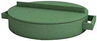Sambonet Freír Sartén 28.5cm Terracota Verde Terra. Cotto Especial Sartén (Material Mix, Revestimiento: cerámica)