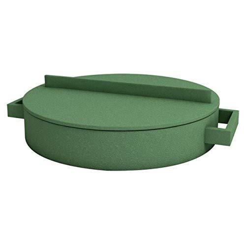 Sambonet arrosto Padella 28.5cm Terracotta Verde Terra. Cotto Speciale Padella (Mix di Materiali, Rivestimento: Ceramica)