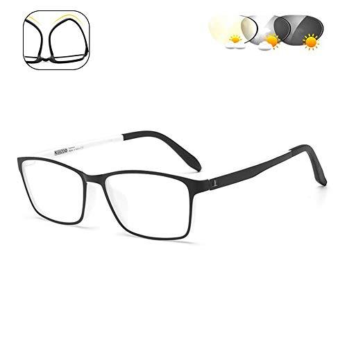 XYSQWZ Gafas De Lectura Fotocromáticas para Exteriores Lentes Multifocales Progresivas Gafas De Sol Ultraligeras con Montura Tr90 / Dioptría De Protección UV +1.0 A + 3.005 + 3.0