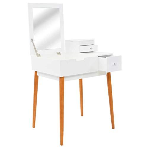 vidaXL Kaptafel met Spiegel 60x50x86 cm MDF Kaptafels Toilettafel Toilettafels