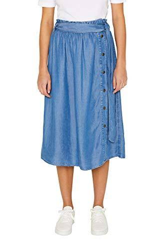 edc by ESPRIT Damen 049CC1D002 Rock, Blau (Blue Medium Wash 902), (Herstellergröße: 38)