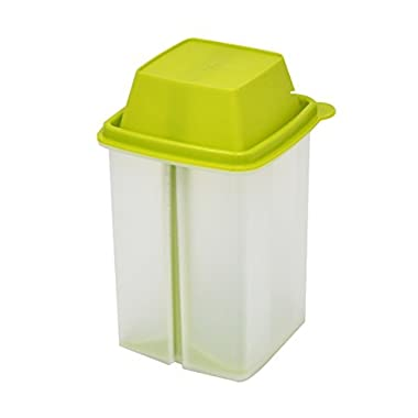 Pickle Storage Container with Strainer Insert, Food Saver (Green Lid) - by Home-X