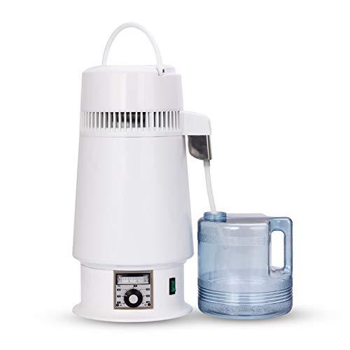 Klassische, Weißer Wasser-Destillierapparat Mit BPA-Frei Einstellbarer Temperaturinnenwand Aus Edelstahl Wasserdestillation Platte Wasser Distiller-Maschine Für Büros Startseite,220v