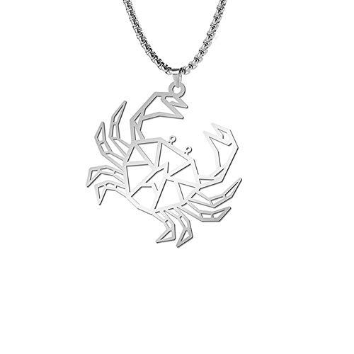 Edelstahl Halskette für Männer Frauen Punk Tier Anhänger Wolf Bier Katze Kaninchen Box Kette Amulett Schmuck Valentines Geschenke crab