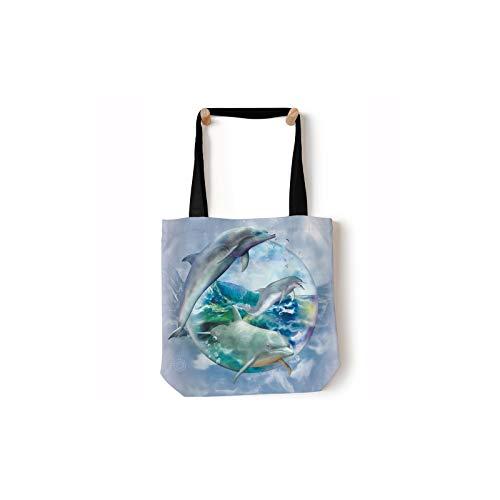 The Mountain Dolphin Bubble Tote Fourre-tout de plage 40,6 x 40,6 cm - Bleu - bleu, Taille unique