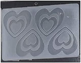 S.Han Silicone Garnishing Sheet Chocolate Double Heart Mould 4 Cavity Cake Decoration Tool Clay Art Craft