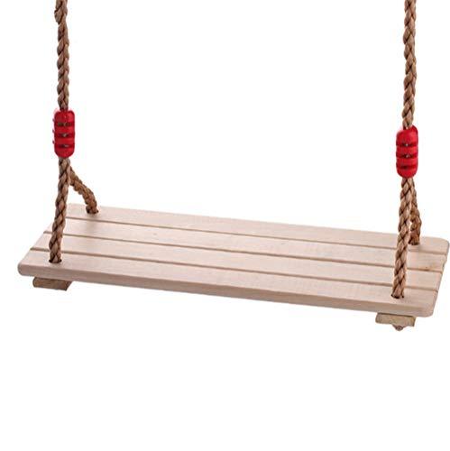 LOO LA schommelstoel voor kinderen hangstoel hangmat, houten tuin schommelstoel buiten beuken hout
