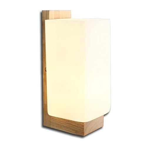 Applique scandinave en bois Applique murale E27 Design Moderne Appliques Murales Creative Cuboid Light Décoratif Intérieur Lampe de Lecture pour Chevet Balcon Corridor Café Bar