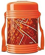 Milton Vector Deluxe 4 Plastic Leak Lock Tiffin Box Set, 5-Pieces, Orange