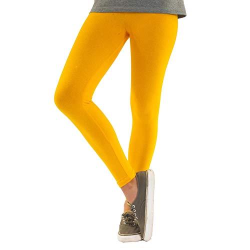 Leggings amarillos de algodón tobilleros