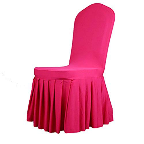 KELUINA 6/20 x afneembare stretch dining/parsons stoel lange rok hoes beschermer, plissé banketstoel stoelhoes voor hotel en bruiloftsfeest 20 Pack rood
