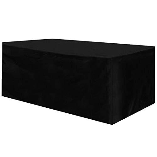 HAOHUI Funda para Muebles De Jardín, Rectangular Impermeable a Prueba de Viento Oxford Cubierta de Mesa Resistente al Polvo Anti-UV, para Muebles de Jardín