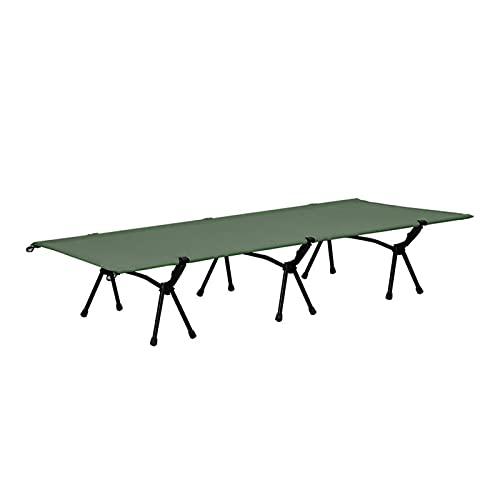 Cama de Camping Plegable Cama portátil para Tienda de campaña, Cama Individual de Oficina, Cuna de Camping, Adecuado para Fiesta de Barbacoa (Color : Green)