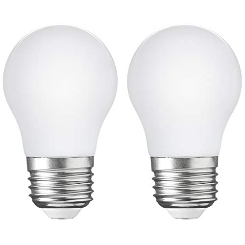 2Pack LED Appliance Light Bulb 5W40 Watt Equivalent FlickerFree 500 Lumens Daylight White 5000K E26 Medium Base A15 LED Frosted Glass Bulb for Refrigerator Range Hood NonDimmable