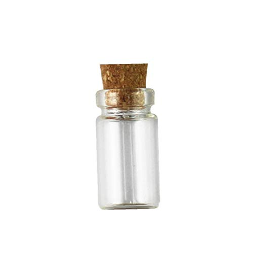 """Botellas 10pcs / Set de tarros de cristal con corcho de botellas de vidrio Tapones Pequeño mini Favors Mini Viales corcho de la botella Mensaje para partido Decoración de la boda 0.43 """"* 0.87"""" *"""