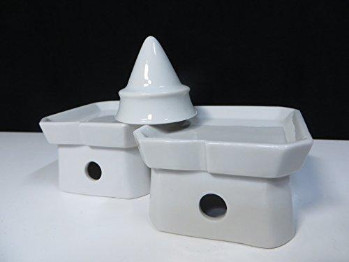 国産 神棚 陶器 ■ 盛塩セット ■ 盛器 & 三宝台 ■ 2.5寸