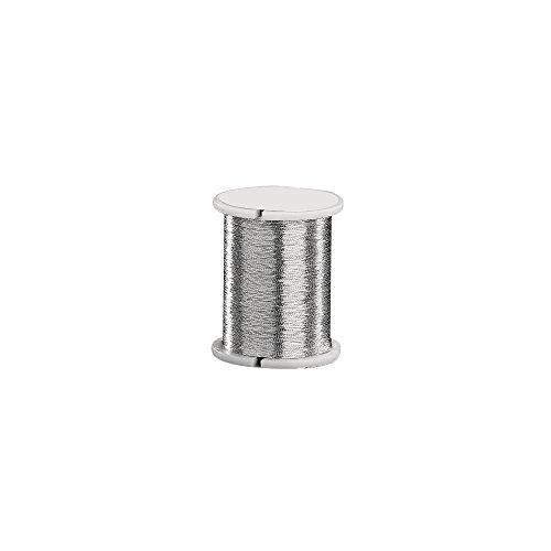 Rayher 5100622 Elastic-Faden, 0,2 mm, Spule 50 m, silber