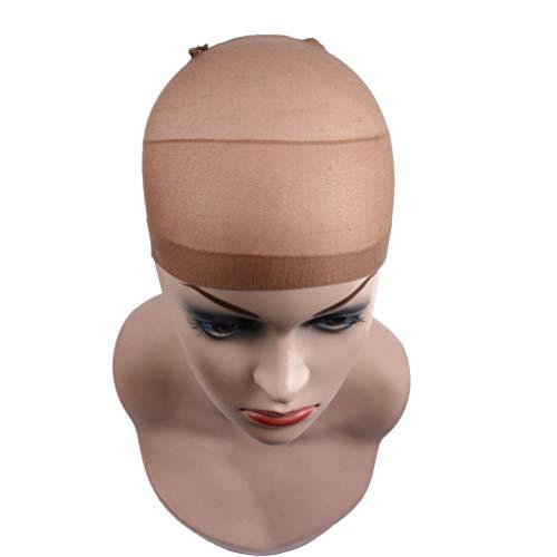 Filet De Cheveux De Chapeau De Perruque, 36Pcs Filet De Cheveux De Chapeau De Perruque De Haute Qualité, Utilisé Pour Les Cheveux Tressés,Marron