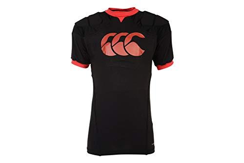 Canterbury Unisex Jugend-Body Protection Vapodri Raze Rugby, schwarz/rot, S (Jungen)