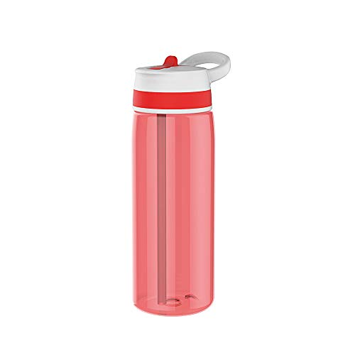 Zak Sprint Trinkflasche mit Strohhalm 75 cl rot