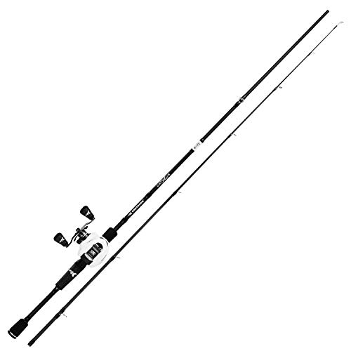KastKing Crixus Fishing Rod and Reel Combo, Baitcasting, 6ft 6in, Med Heavy, Left Handed,2pcs
