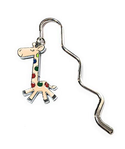 FizzyButton Regalo dello Smalto Fascino Giraffa Mini segnalibro nel Sacchetto del Regalo