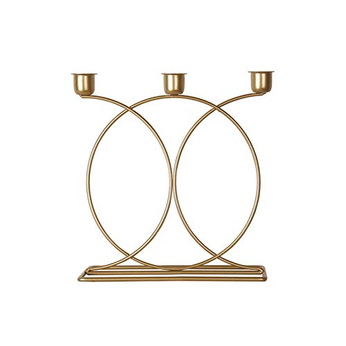 WXWXXX Creativity Candle Holders,Gold Vintage Decorative Candlesticks For Wedding Tables Party Valentine Candlelight Dinner alloy 23 * 23cm