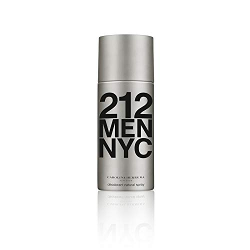 Carolina Herrera Homme, 212 Men NYC Deodorant Natural Spray, 150 g