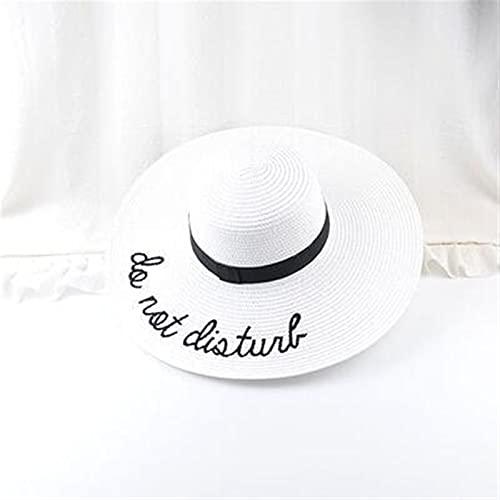 sombrero de copa 2021 Carta de bordado de la letra caliente gorra grande para las señoras Sombrero de paja de verano sombreros de la juventud para las mujeres Sombra de sol sombreros de la playa Sombr