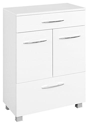 Held Möbel Portofino Unterschrank, Holzwerkstoff, Weiß, 35 x 60 x 84 cm