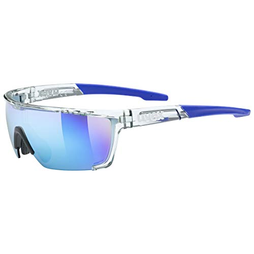 uvex Unisex– Erwachsene, sportstyle 707 Sportbrille, clear/mirror blue, one size