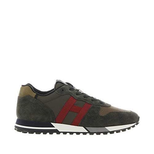 Hogan Sneakers H383 IN Suede E Tessuto Tecnico Militare 45