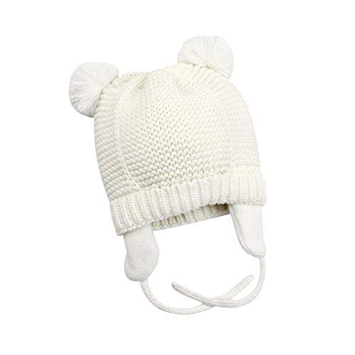 XIAOHAWANG Baby Hat Cute Bear Toddler Earflap Beanie Warm for Fall Winter 5350f37bc433