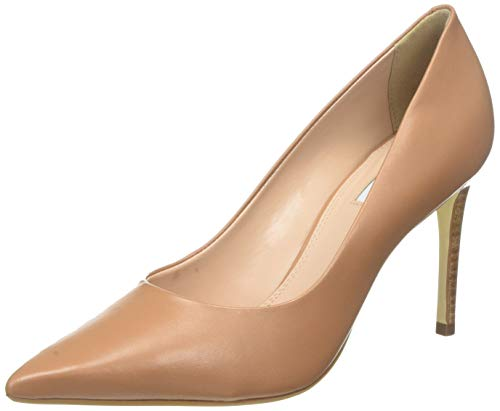 Dune Damen Adella Pumps, Beige Caramel-Leather, 37 EU