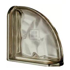 Quality Glass Block 7.5 x 7.5 x 3 Pegasus Metalized Siena Wave Double End Block Glass Block
