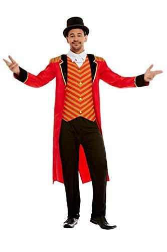 Smiffys 51016L Deluxe Ringmaster Costume, Men, Red, L - Size 42'-44'