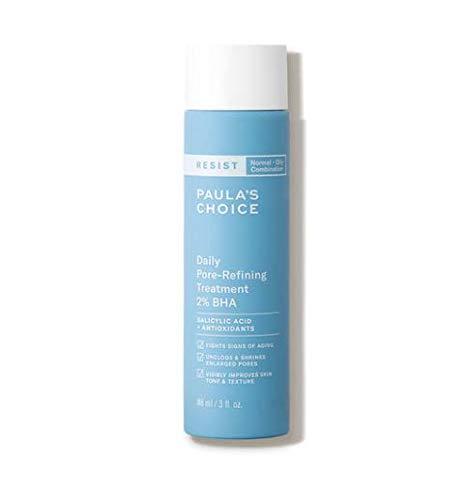 Paula's Choice RESIST Daily Pore-Refining Treatment 2% BHA with Salicylic & Hyaluronic Acid, Blackheads & Large Pore Exfoliant, Oily Skin, 3 Ounce