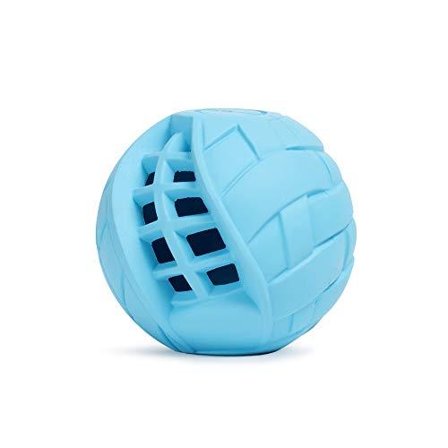 LoYoDo Hundeball | Leckerlie Snack Ball für Hunde | stabil, Hartgummi, leicht | Beschäftigungsspielzeug für Deinen Hund | ideal auch zum werfen | Spielzeug, befüllbar, bissfest | Blau 7 cm