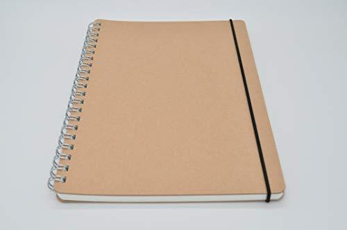 Muji Doppelring-Notizbuch aus Recyclingpapier, A5, 70 Blatt, mit Gummiband