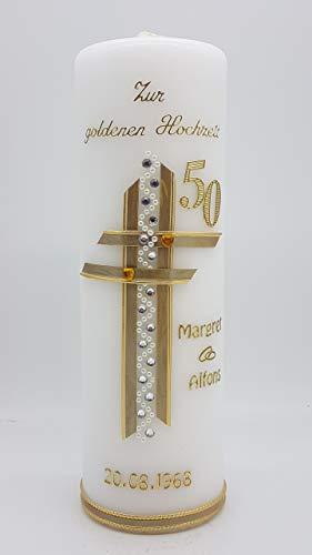 Kerze goldene Hochzeit mit Namen & Datum GH-15
