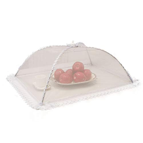 Leikance Cubierta de malla para alimentos, tiendas de campaña, alambre de acero, carpas de campaña, plegable para cocina, cubierta para platos de comida
