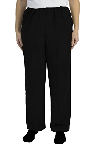 Alfred Dunner C4 Classics Missy Style Proportioned MD Pant blk Size 14