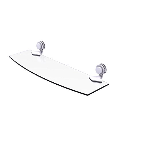 Allied Brass 433D/18 Venus Collection 18 Inch Dotted Accents Glass Shelf, Matte White