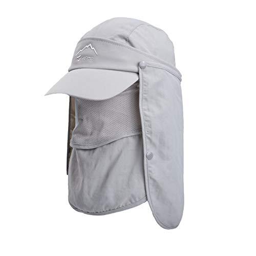 Lazz1on Unisex Cappello da Sole Pescatore Cappellino con Protezione del Collo Anti UV Berretto di Baseball Asciugatura Rapida Grande Tesa per attività all'Aria Aperta Ciclisti Pesca