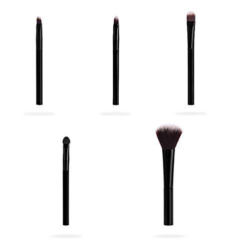 HU 5X Brosse de Maquillage Professionnel, cosmétiques beauté Ombre à paupières Poudre de mélange Pinceau à lèvres
