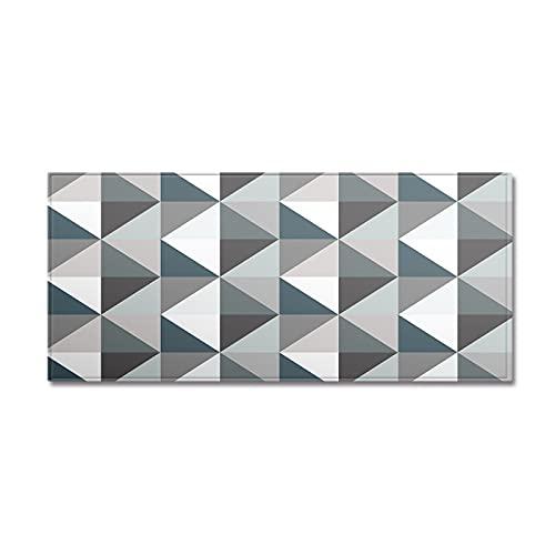YDyun Alfombra Interior Y Exterior Alfombrilla de Cocina Antideslizante con patrón geométrico