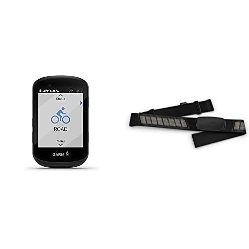 Garmin Edge 530, GPS Bike Computer Smart Unisex Adulto, Nero, Taglia Unica + Fascia per la frequenza cardiaca Dual Basic, dati della frequenza cardiaca in tempo reale via Bluetooth Low Energy, ANT+
