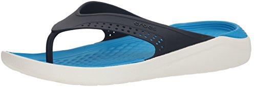 Crocs Unisex-Erwachsene LiteRide Flip Clogs, Weiß (Navy/White), 43/44 EU