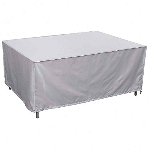 lINOC Patio Furniture Covers Garden Furniture Covers Silver 210D Oxford Cloth Waterproof Suitable for Chairs Loveseats Ottomans Sofas Tables,123×61×72cm