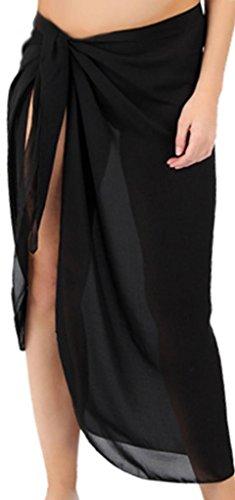 Sanctuarie Women's Sheer Black Plus Size Sarong Pareo Coverup Coverup/5x/33